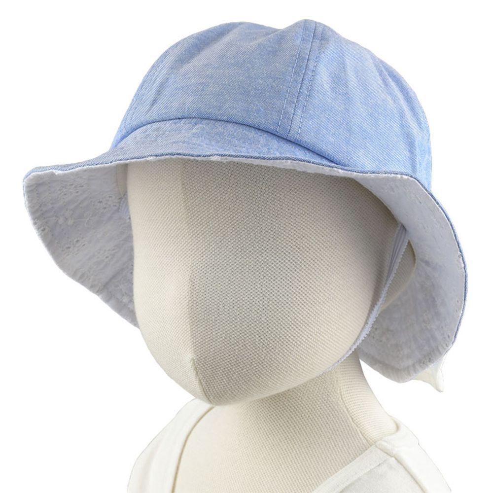 akachan honpo - 遮陽蝴蝶結帽-小花-深藍色