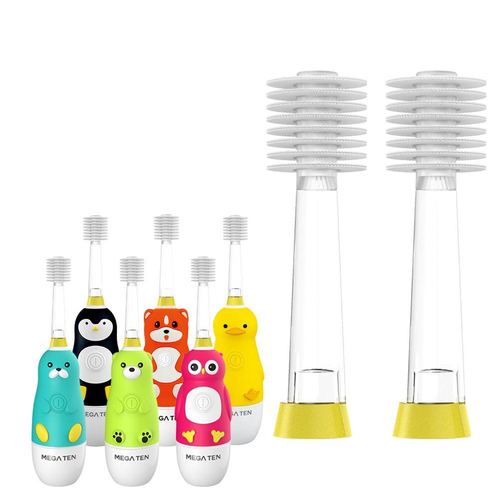 日本 VIVATEC - Mega Ten幼童電動牙刷刷頭2入 (2~12歲適用)