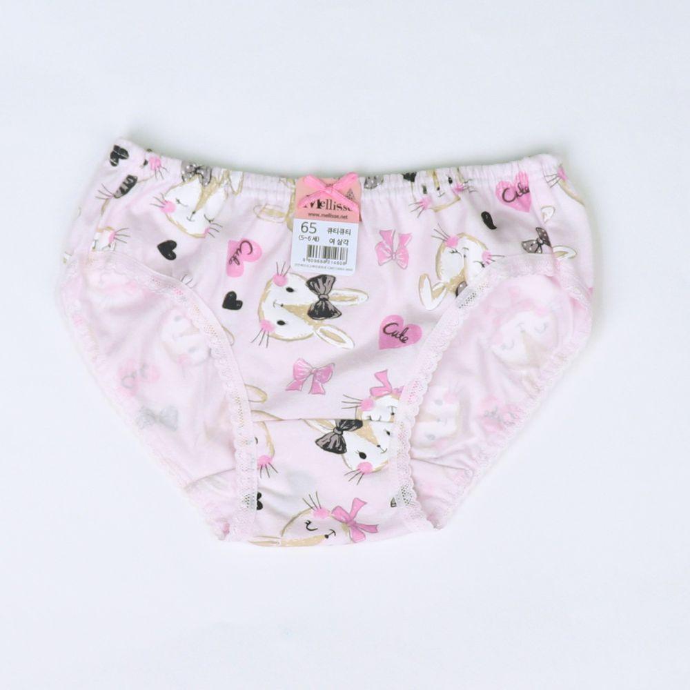 韓國 Mellisse - 純棉三角褲(女寶)-可愛兔兔