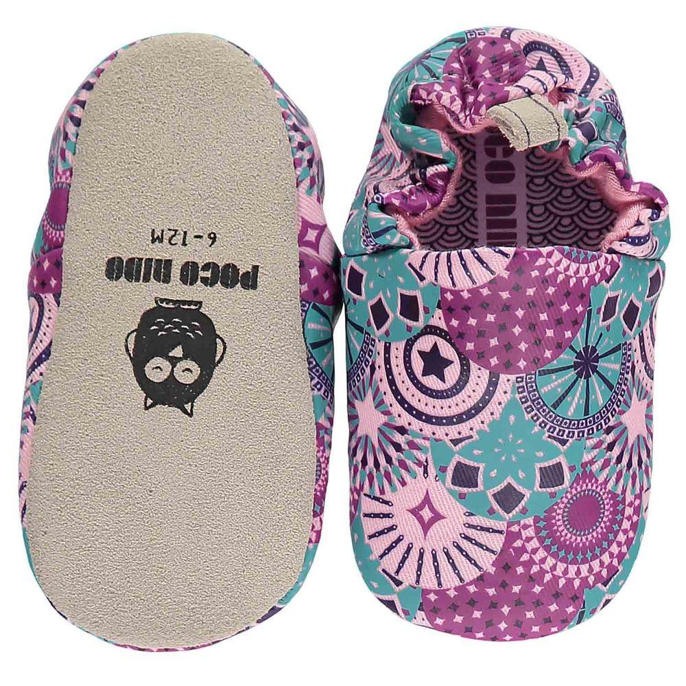 英國 Poconido - 寶寶手工鞋/學步鞋-繽紛嘉年華
