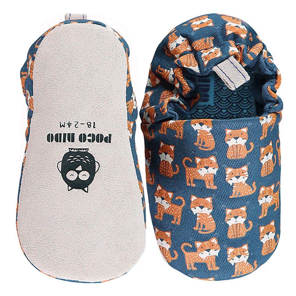 英國 Poconido - 寶寶手工鞋/學步鞋-幸福小山貓-海軍藍
