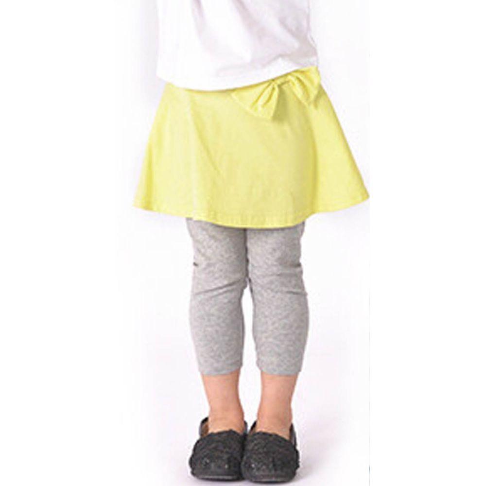 日本 TORIDORY - 百搭蛋糕七分內搭褲裙-檸檬黃X灰
