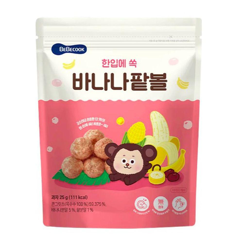 BEBECOOK 寶膳 - 智慧媽媽 嬰幼兒玉米球-香蕉紅豆(12M以上)