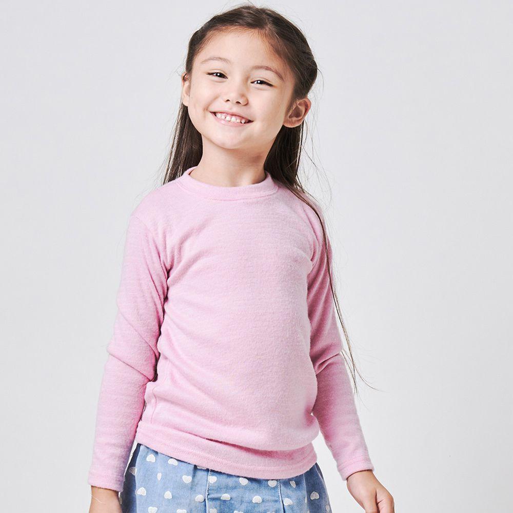 GIAT - 兒童雙刷毛羊絨保暖衣-甜粉