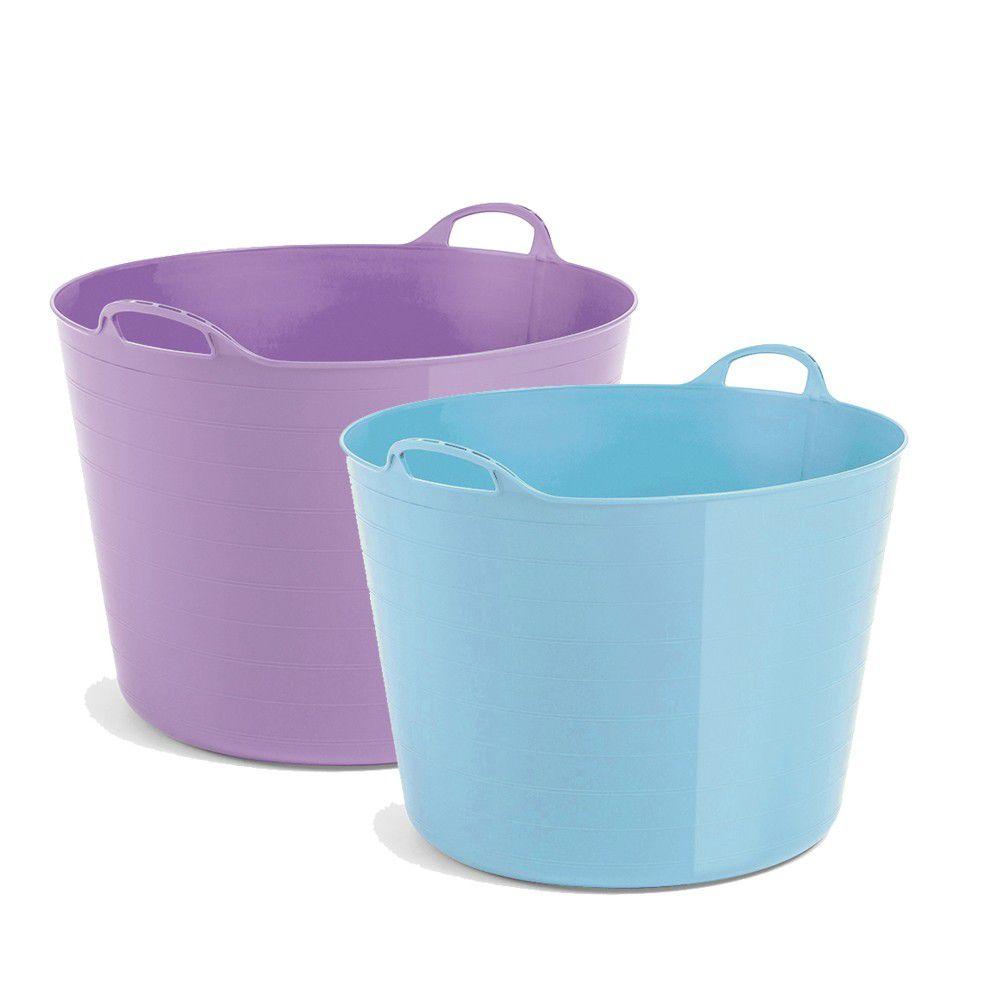紐西蘭 TAURUS - italio多功能軟式泡澡桶-2入組-特大紫+大藍