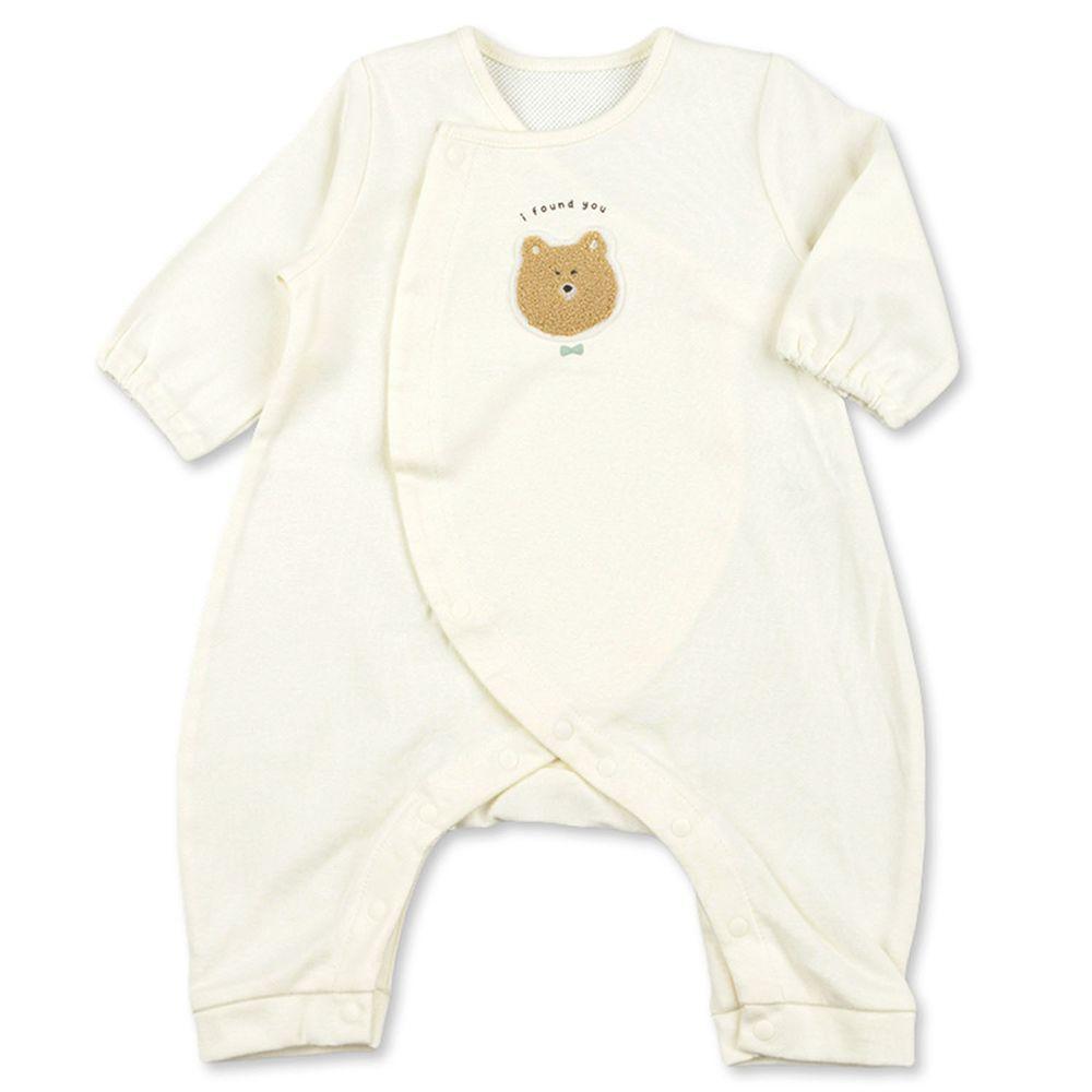 akachan honpo - 長袖兔裝-背部為網眼-米白色 (50~60cm)