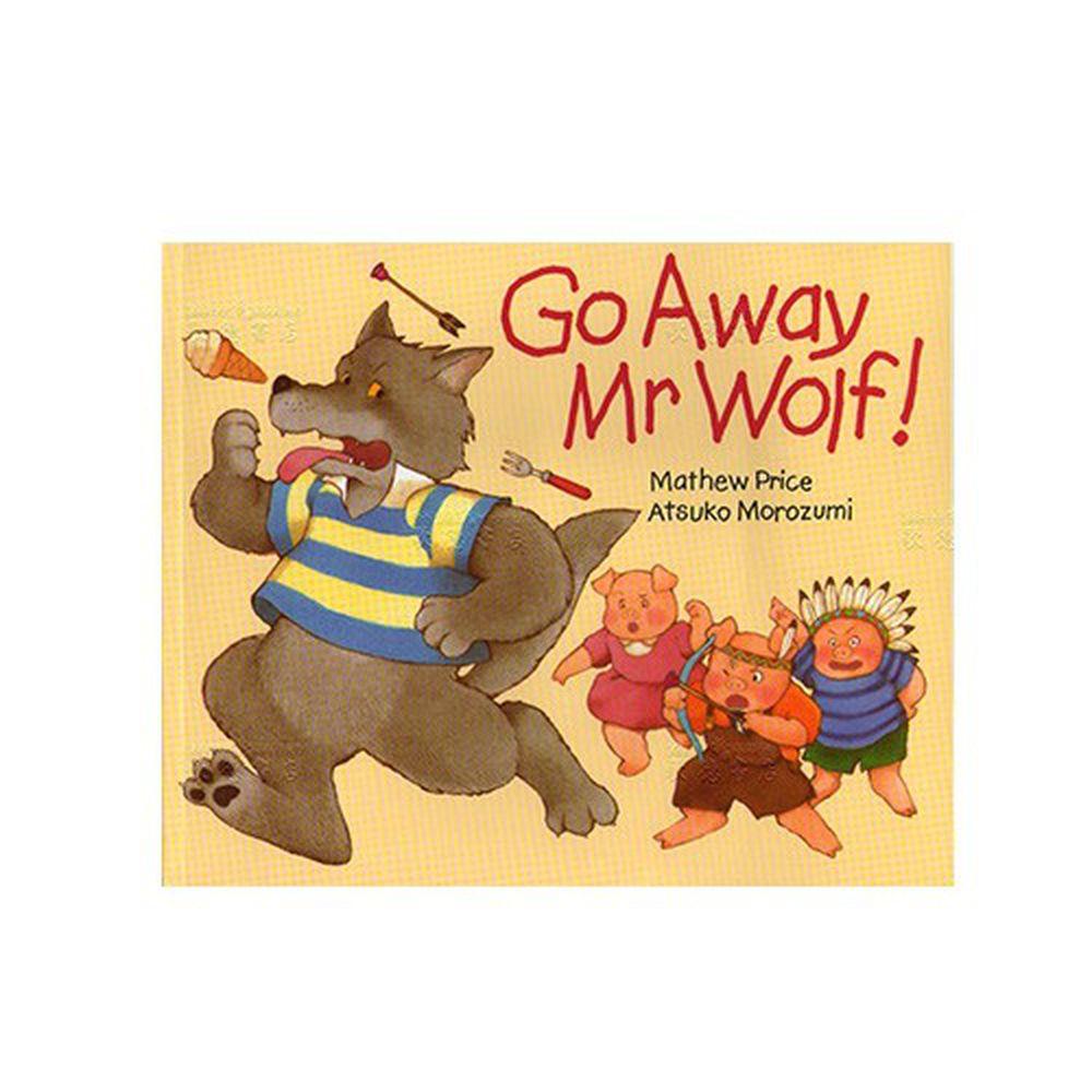 有聲書-GO AWAY MR.WOLF /平裝繪本+CD