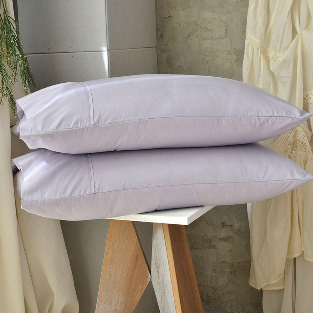 澳洲 Simple Living - 300織台灣製純棉美式信封枕套-月見紫-二入