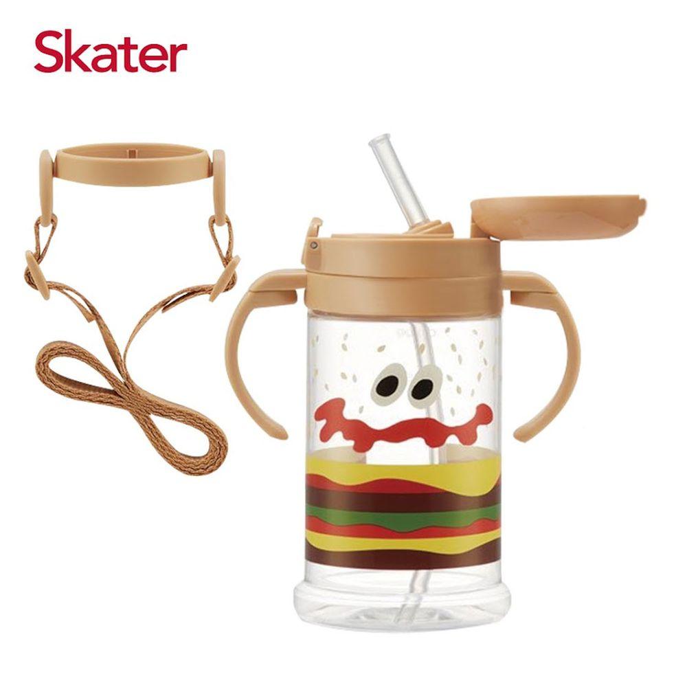 日本 SKATER - Skater寬底吸管杯(370ml)-BURGER CONX