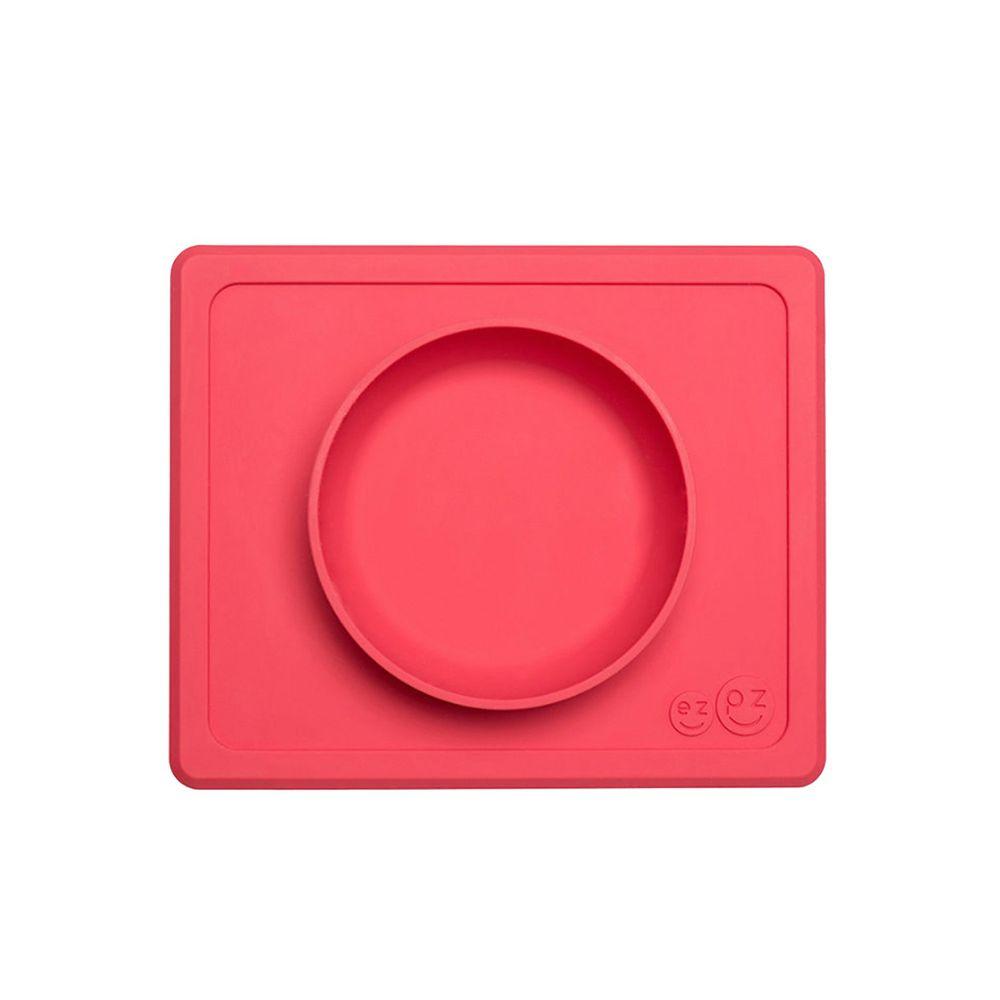 美國 ezpz - 快樂餐碗 Happy Mini bowl-迷你餐碗-珊瑚紅 (21.6cm*17.8cm*3.18)-240ml