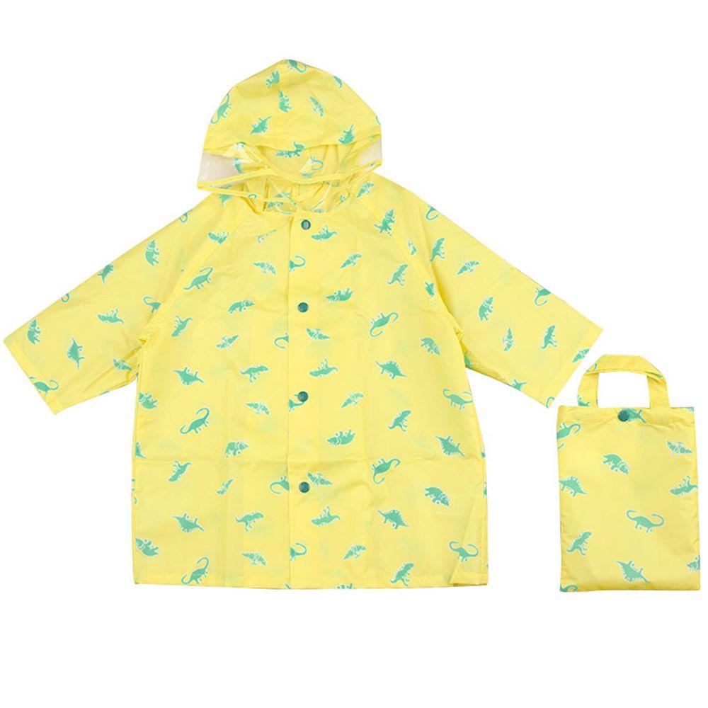 akachan honpo - 雨衣-恐龍-淺黃色