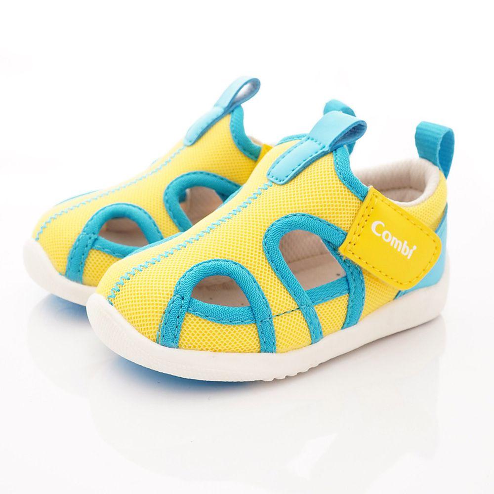 日本 Combi - 機能童鞋/學步鞋-護趾透氣學步涼鞋(寶寶段)-黃