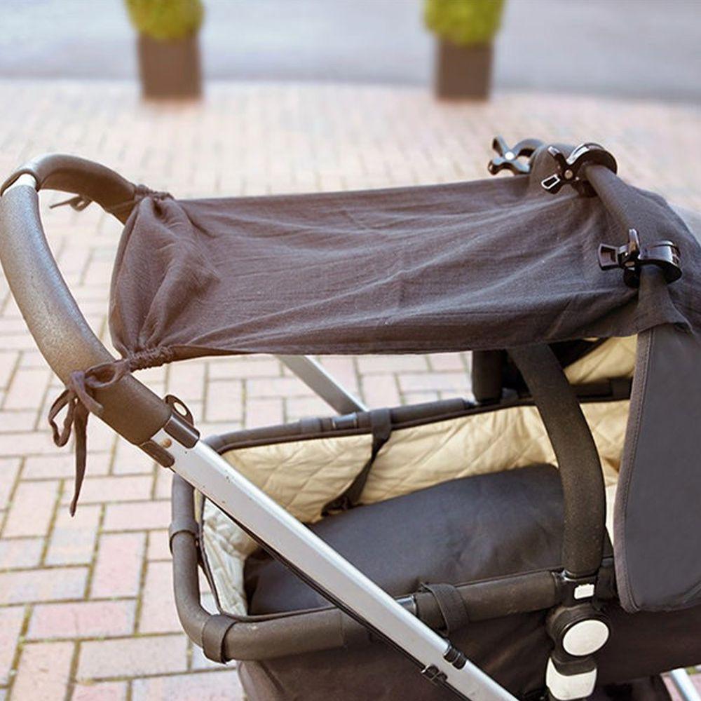 英國 JoJo Maman BeBe - 嬰兒推車專用100%純棉遮陽布-純黑