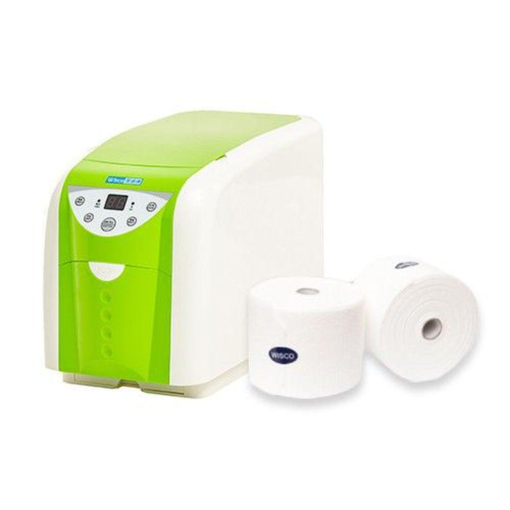 潔適康 WISCO - 精緻型冷熱柔巾機-蘋果綠-加贈6卷乾濕兩用巾