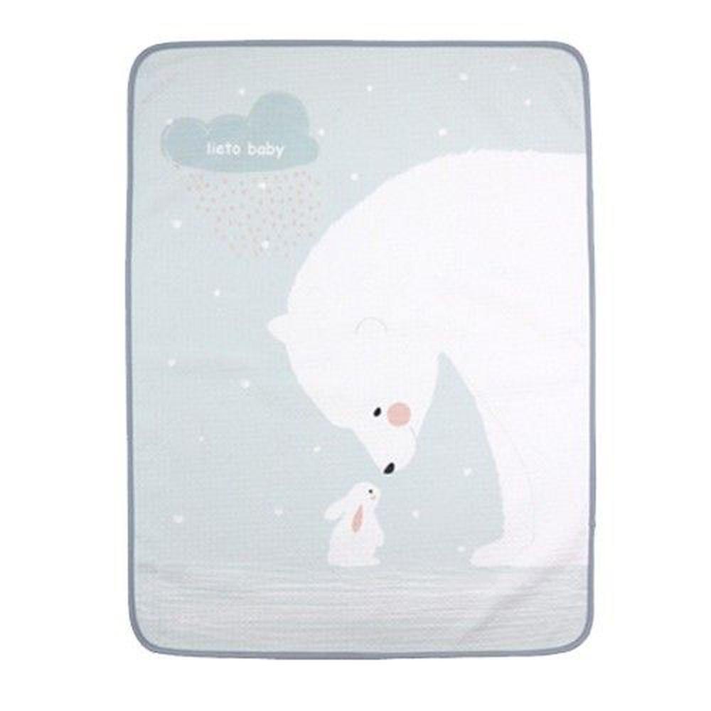 韓國 Lieto baby - 童話風有機棉防水墊-雪地北極熊-薄荷綠 (50*60cm)