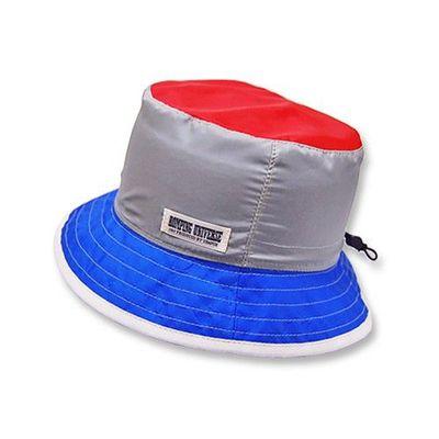 日本製輕撥水加工帽圍調節機能帽-灰色 (50cm)