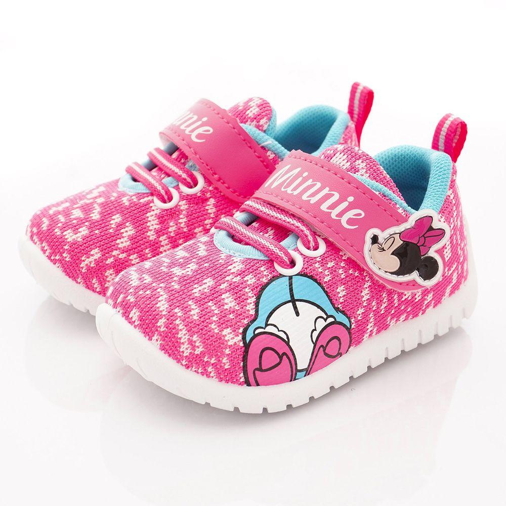 迪士尼 - 卡通童鞋-米妮針織運動鞋(中小童段)-桃