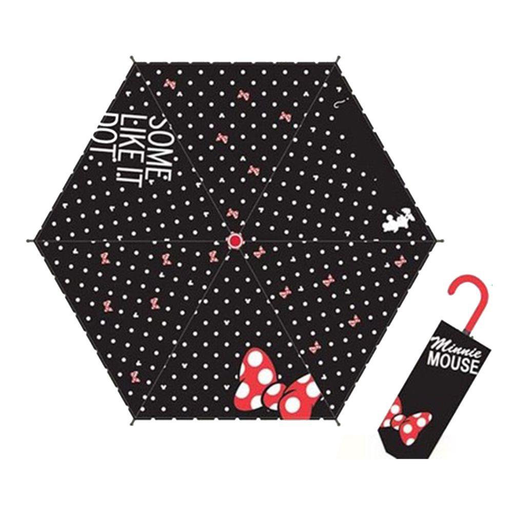 日本代購 - 卡通折疊雨傘-黑白點點米妮 (53cm(125cm以上))