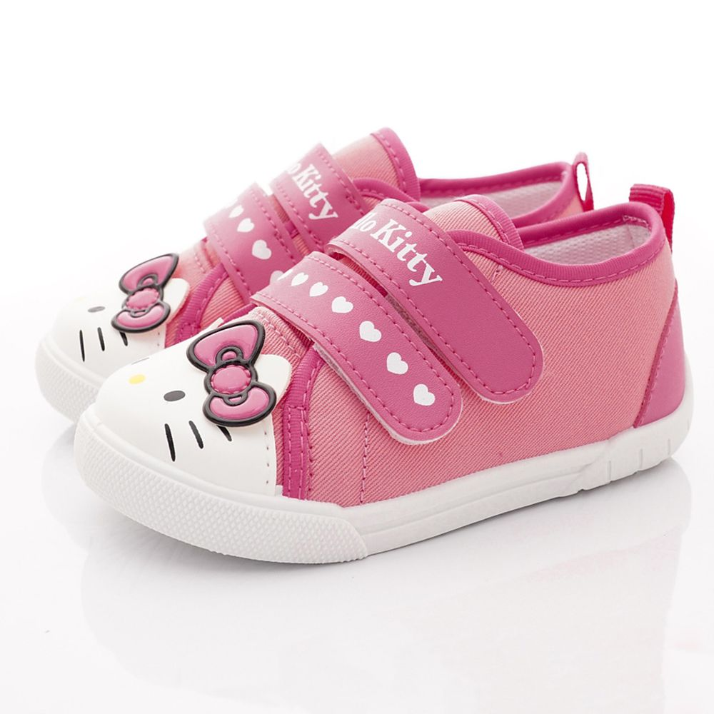 SANRIO - Hello Kitty凱蒂貓經典帆布鞋-小童段-桃