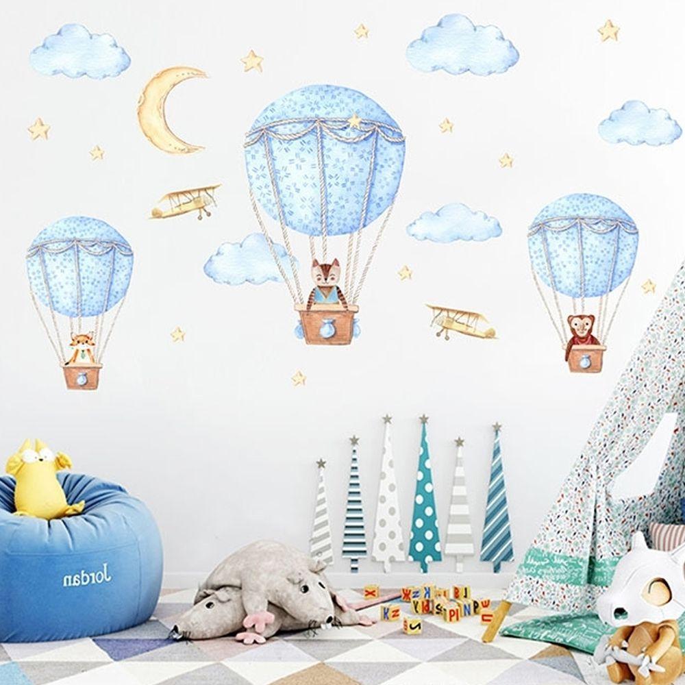 JB Design - 時尚壁貼-北歐風熱氣球JM7343 (60cm*90cm)