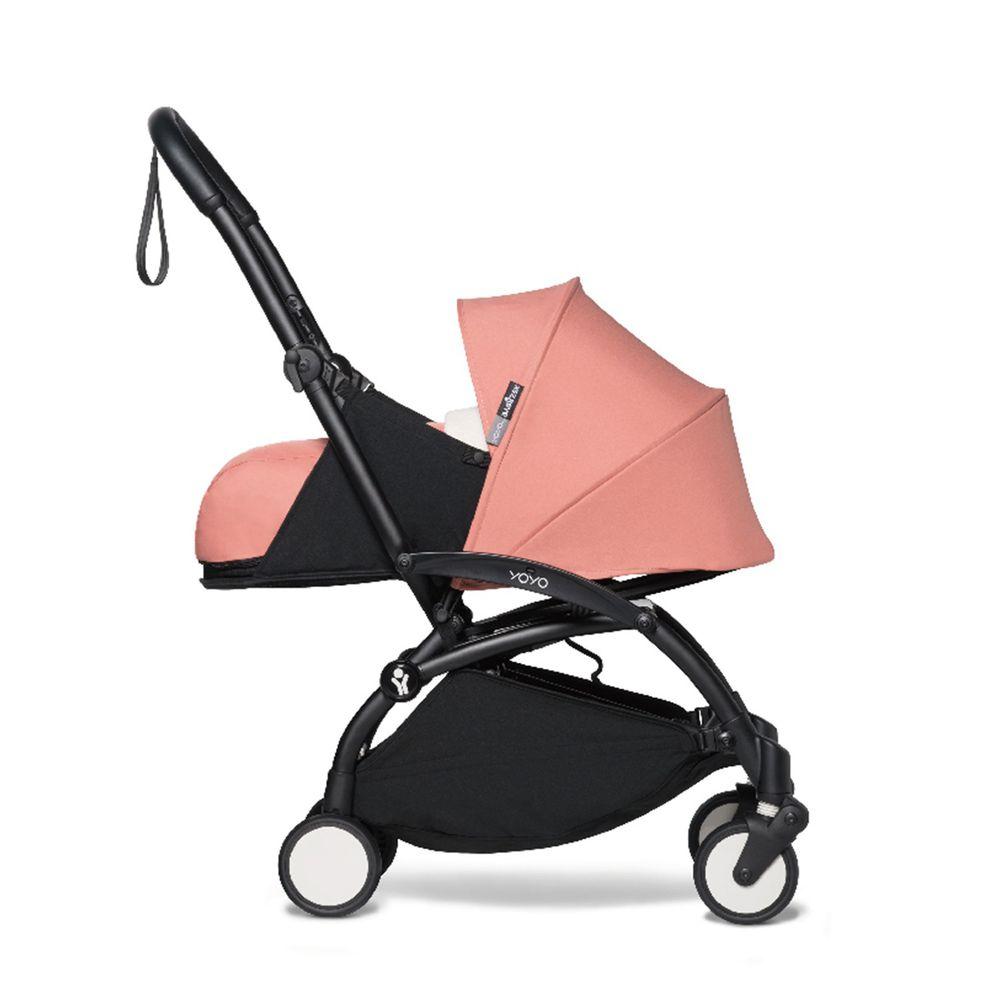 法國BABYZEN - YOYO² 嬰兒手推車0+-黑管-淡粉-0m+