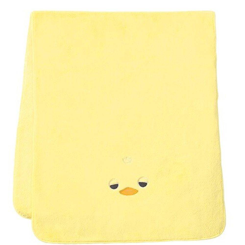 日本 LIV HEART - 5倍吸水力蓬鬆柔軟 長毛巾-小鴨-黃 (40x100cm)
