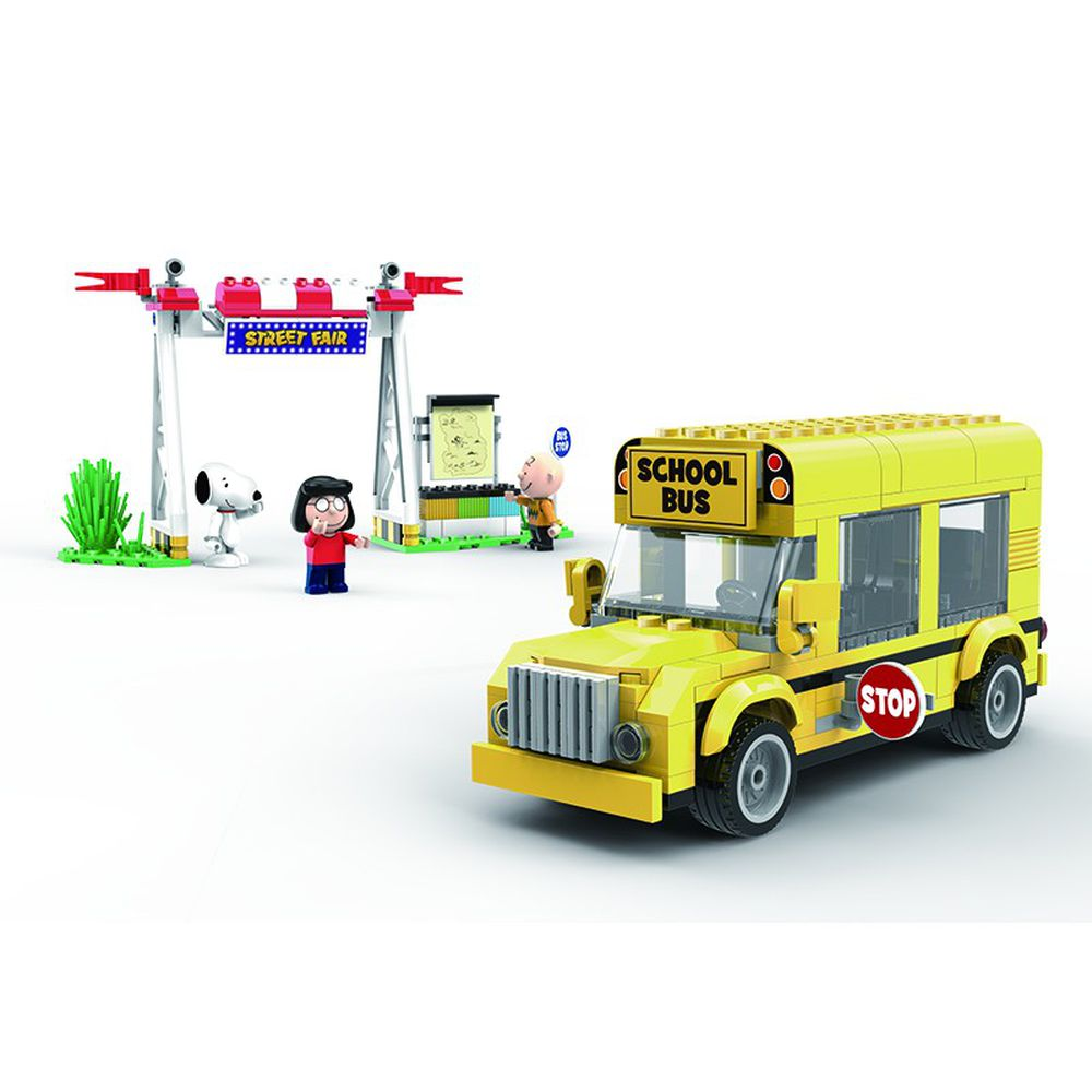 Linoos - 史努比歡樂廣場系列-黃色校車2.0-288片