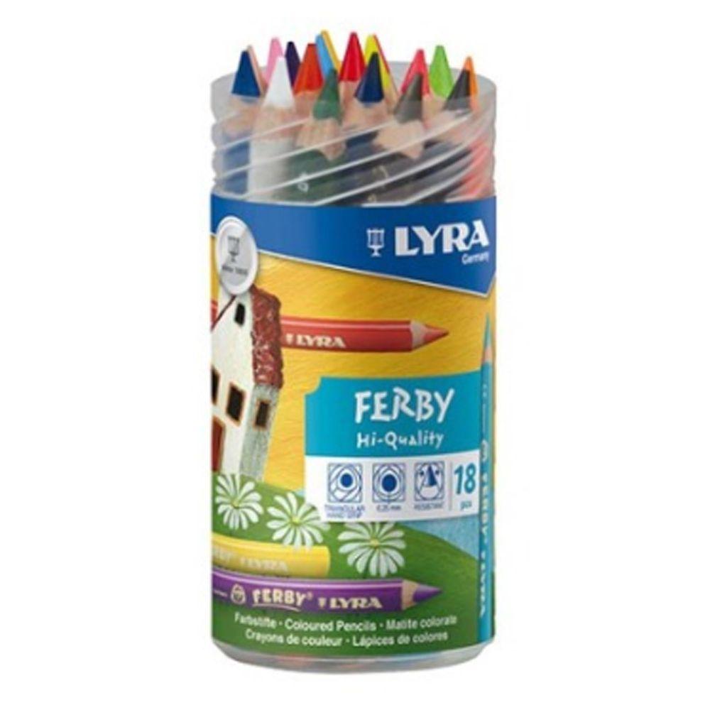 德國LYRA - 三角漆皮彩色鉛筆12cm(18色)-3歲以上