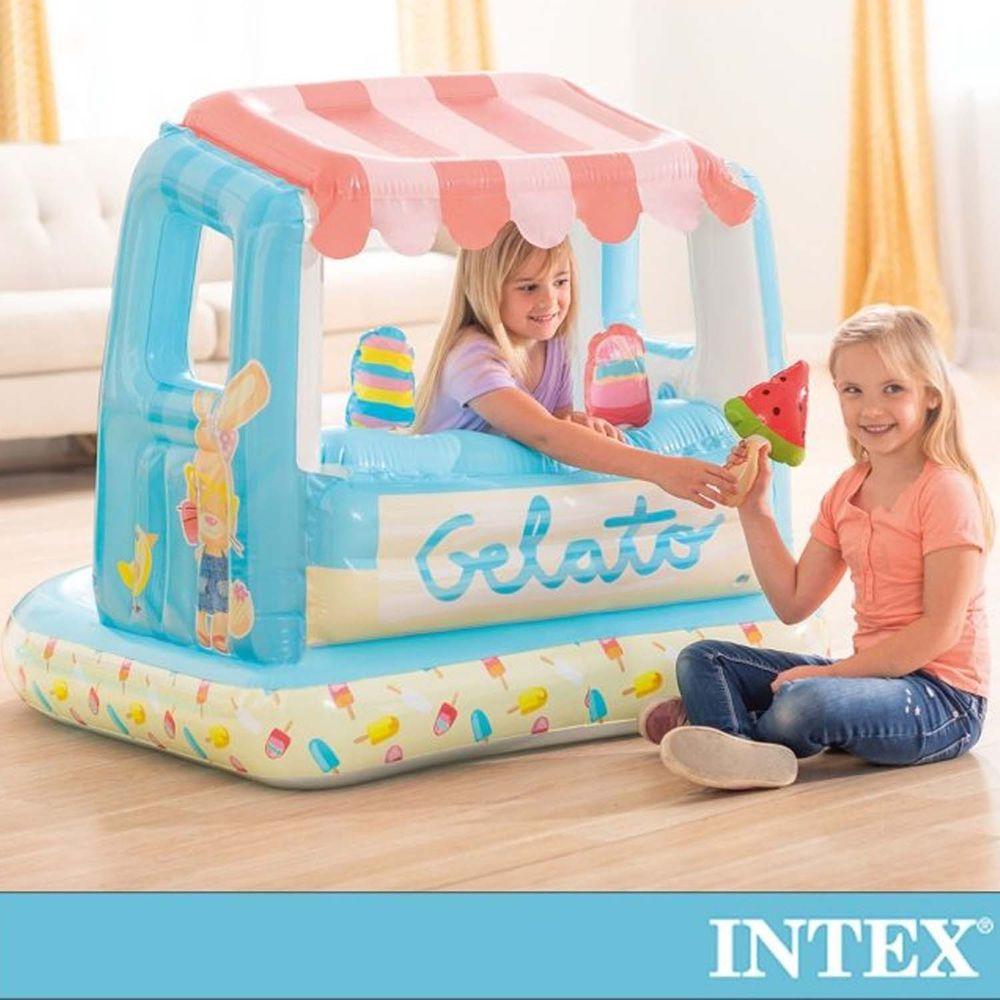INTEX - 冰淇淋店遊戲屋/戲水二用_適用2-6歲
