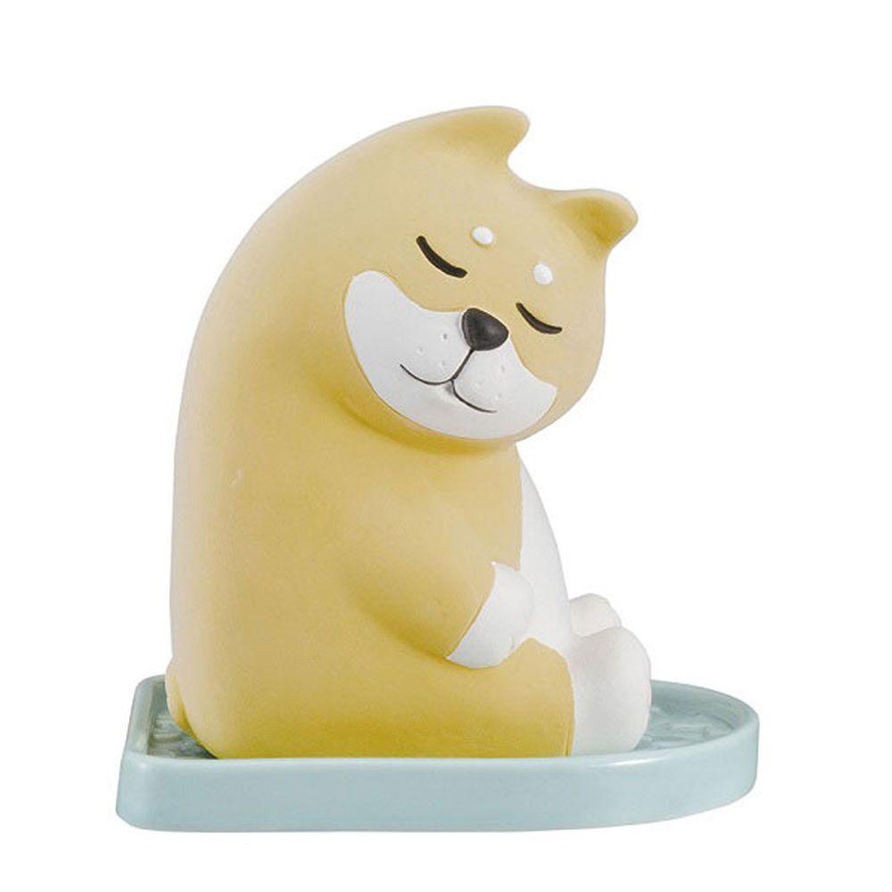 日本 DECOLE - 療癒環保除濕除臭擺飾(可重複使用)-打瞌睡 柴犬