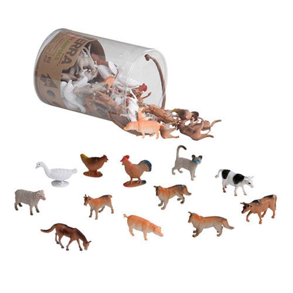 B.TOYS - TERRA 農場動物-60PCS(共12種動物,每種各5隻)