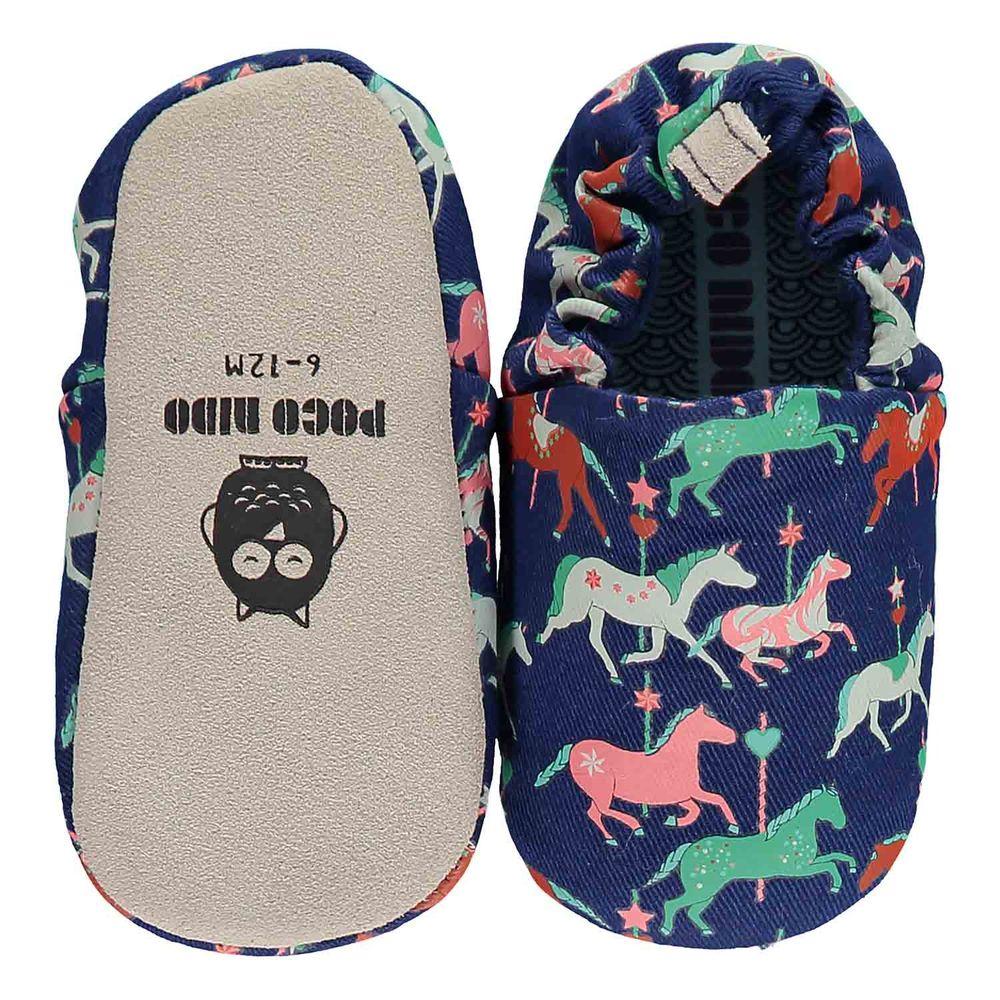 英國 Poconido - 寶寶手工鞋/學步鞋-旋轉木馬