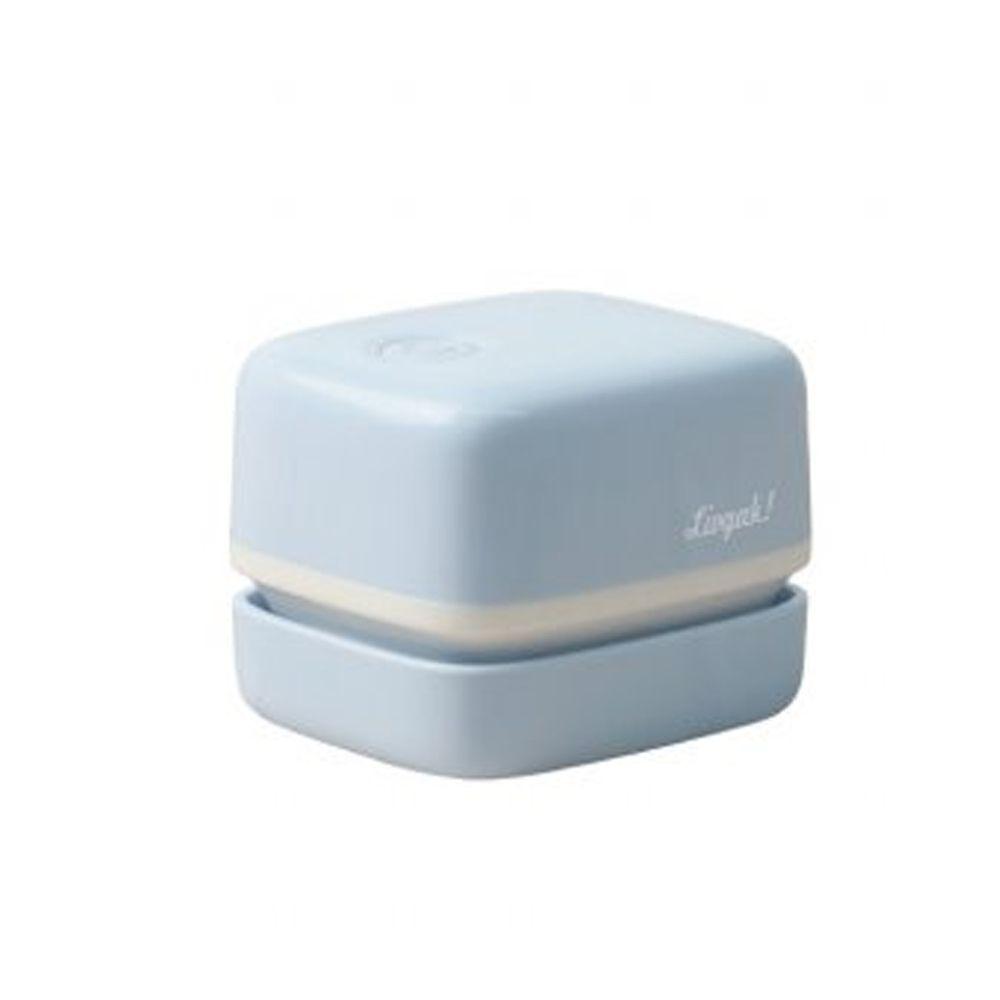 日本文具 SONIC - 電動桌面迷你吸塵器(紙屑/橡皮擦屑)-文青方型-水藍 (mini)
