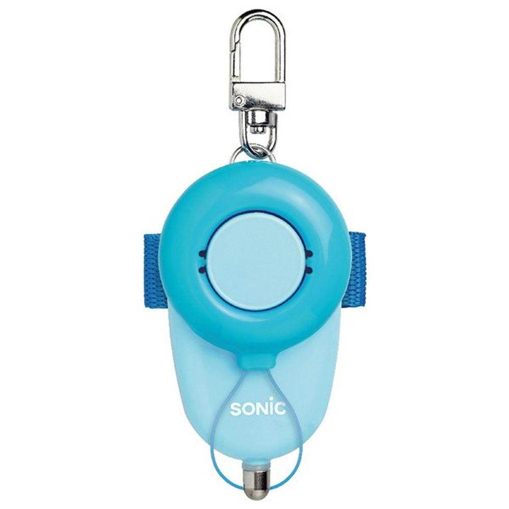 日本文具 SONIC - 安全防身警報器 93分貝 生活防水-藍-附測試用4號電池-團購專案