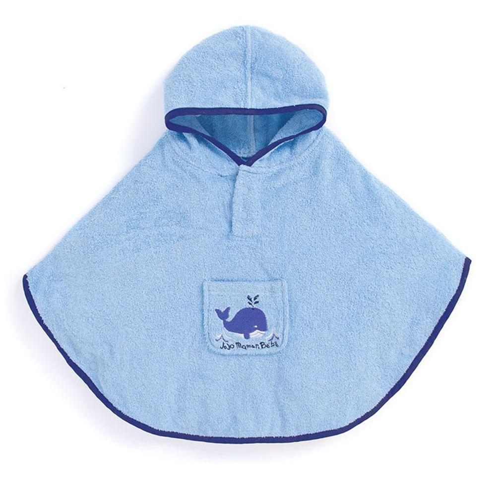 英國 JoJo Maman BeBe - 嬰幼兒/兒童游泳浴巾-鯨魚