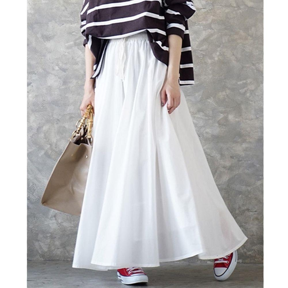 日本 zootie - 100%印度棉舒適傘狀長裙-天使白 (Free)