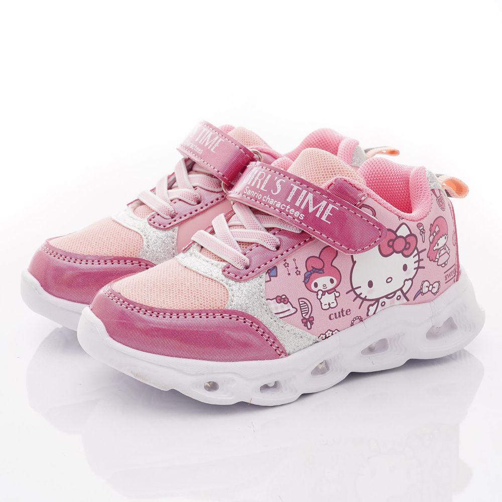 HELLO KITTY - 運動電燈鞋款(小童段)-桃紅