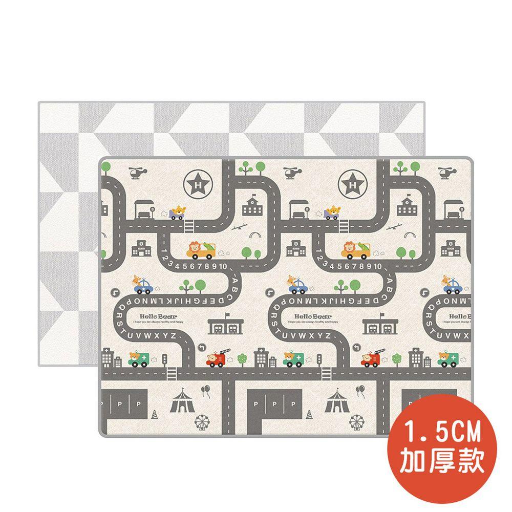 韓國 Parklon 帕龍 - 雙面包邊1.5CM-幾何車車軌道 (200x150x1.5cm)