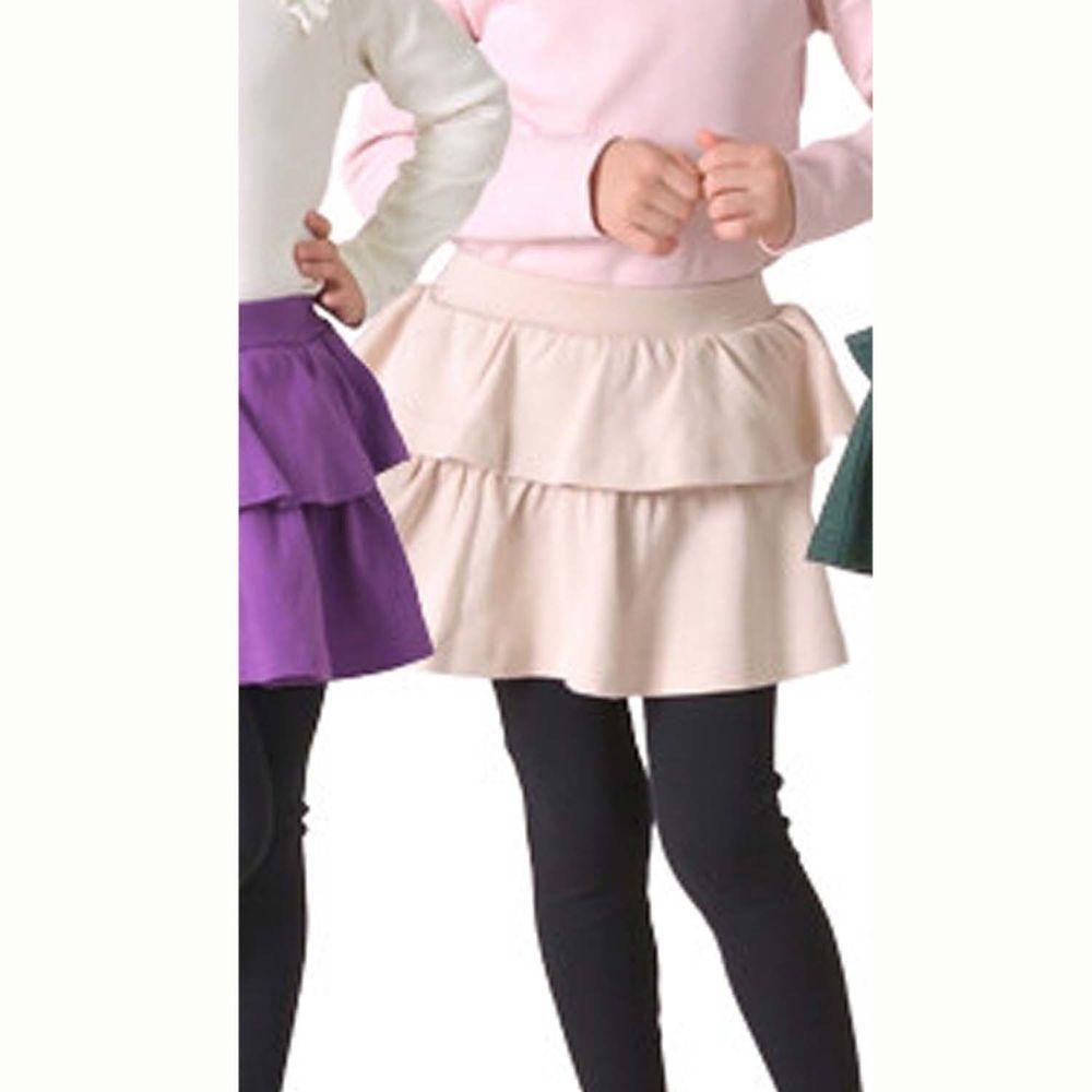 日本 TORIDORY - 百搭內搭褲裙-雙層蛋糕-杏