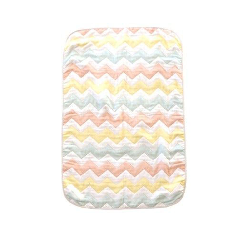 cocodesica - Sandesica - 日本製蓬鬆六重紗-萬用毯-彩色波紋 (100×70cm)
