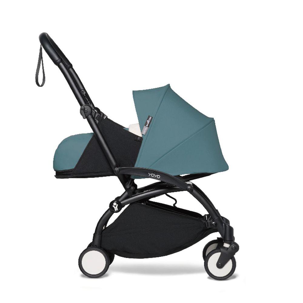 法國BABYZEN - YOYO² 嬰兒手推車0+-黑管-湖水藍-0m+
