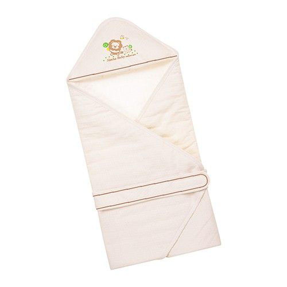 Simba 小獅王辛巴 - 有機棉嬰兒包巾-約75x73cm