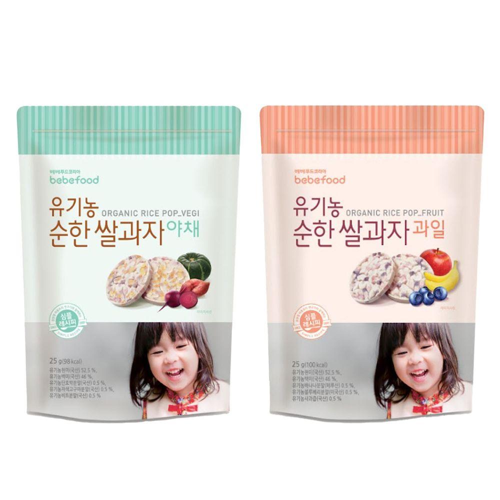 韓國bebefood寶寶福德 - 糙米餅2入組-(蔬菜*1,水果*1)