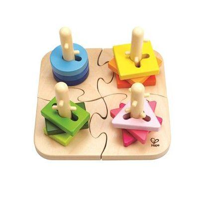 創意樁木幾何拼圖