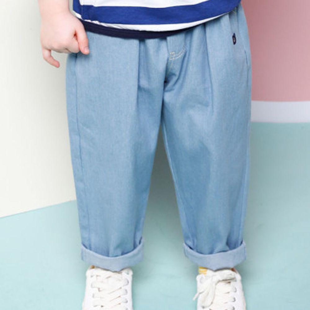韓國 Jelispoon - 鬆緊褲頭哈倫褲