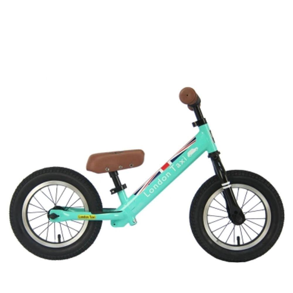 英國 London Taxi KickBike - 專業充氣胎幼兒平衡滑步車-馬卡龍綠-【獨家送】法國ebulobo小熊寶寶背包-團購專案
