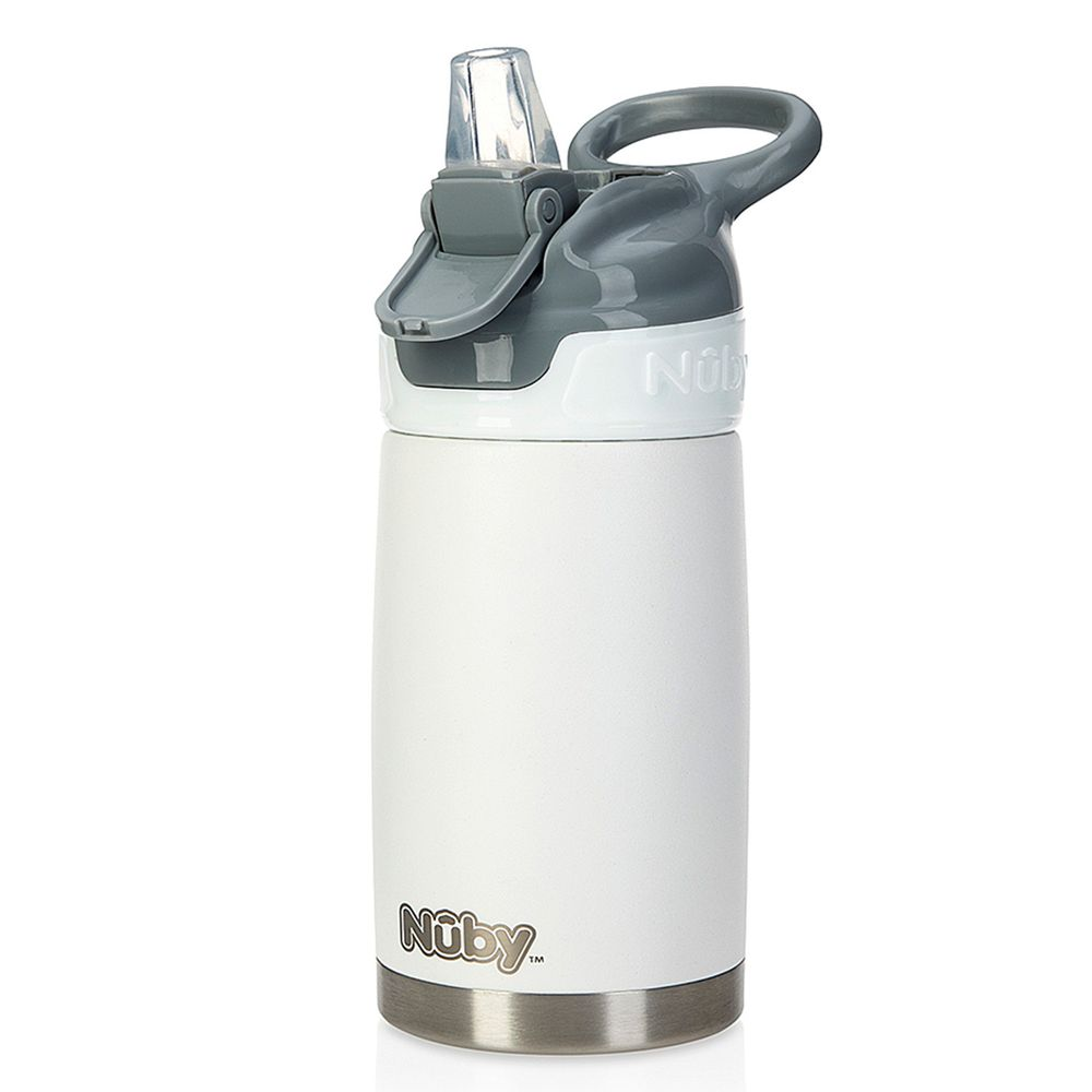 Nuby - 不鏽鋼真空隨行杯-雪花白-300ml