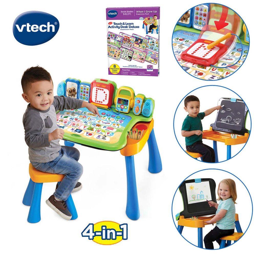 Vtech - 【獨家限定組】Vtech 4合1多功能互動點讀桌椅夢想組-(1桌+我的成長夢想學習卡)