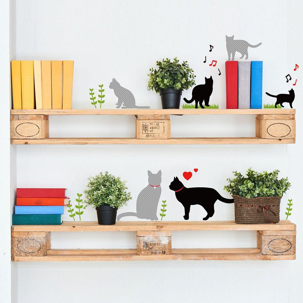 日本 TOKYO STICKER - 日本製 質感無邊框壁貼 [基本款]-活力小貓 (A4)