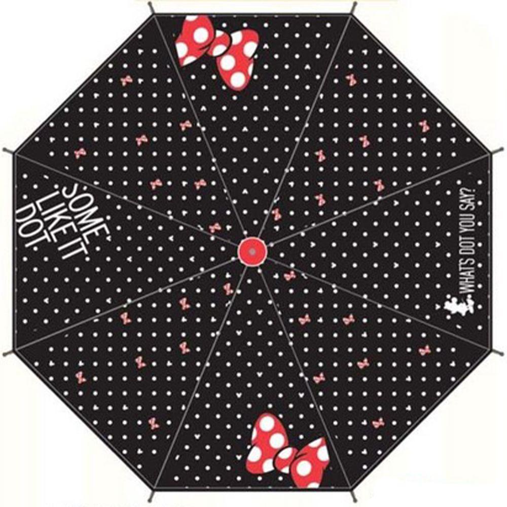 日本代購 - 卡通直傘-黑白點點米妮 (55cm(130cm以上))